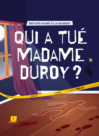 cluedo géant - qui a tué madame duroy - escape kit