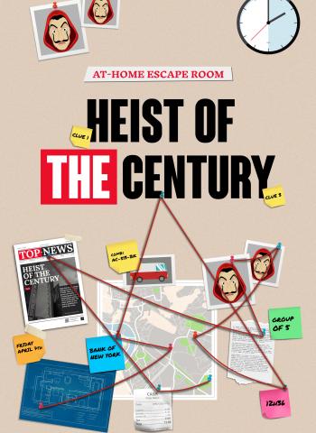 Heist of the century money heist escape room game escape kit