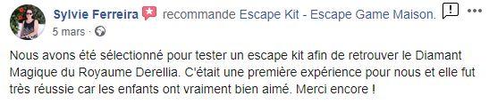 Escape game maison avis