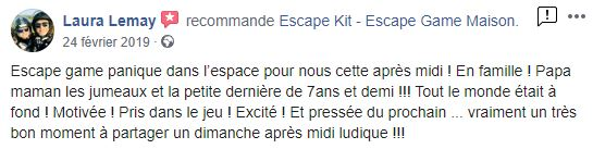 Avis Facebook Escape
