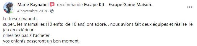 avis escape game pirate
