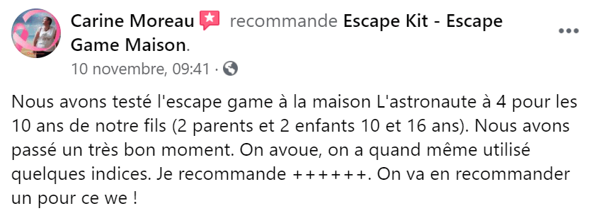 Escape Game avis Escape Kit