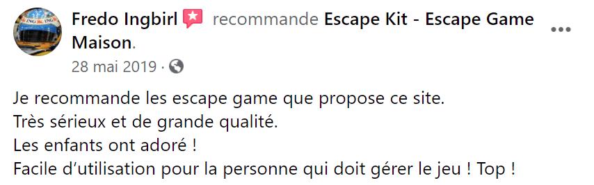 Avis maman escape game