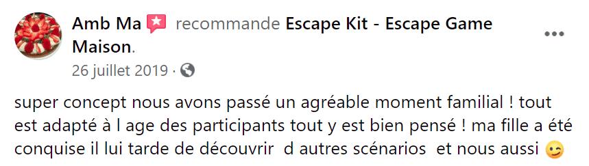 Avis escape game maison